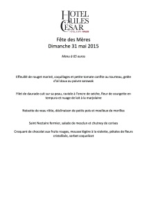 Jules César Menu Fete des Mères 31 mai 2015-1
